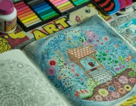 Livros de colorir para desestressar – Jardim Secreto e Floresta Encantada