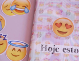 Caderno de Emoji | Customização de Caderno – Volta às Aulas