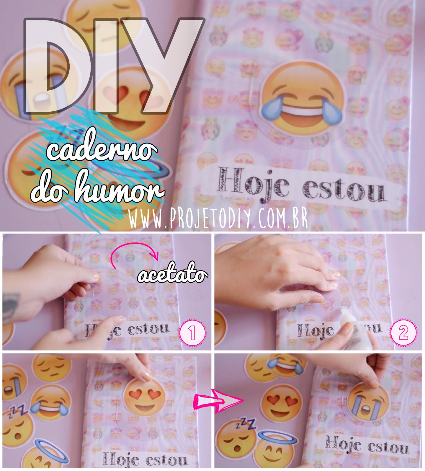 caderno de emoji - caderno do humor