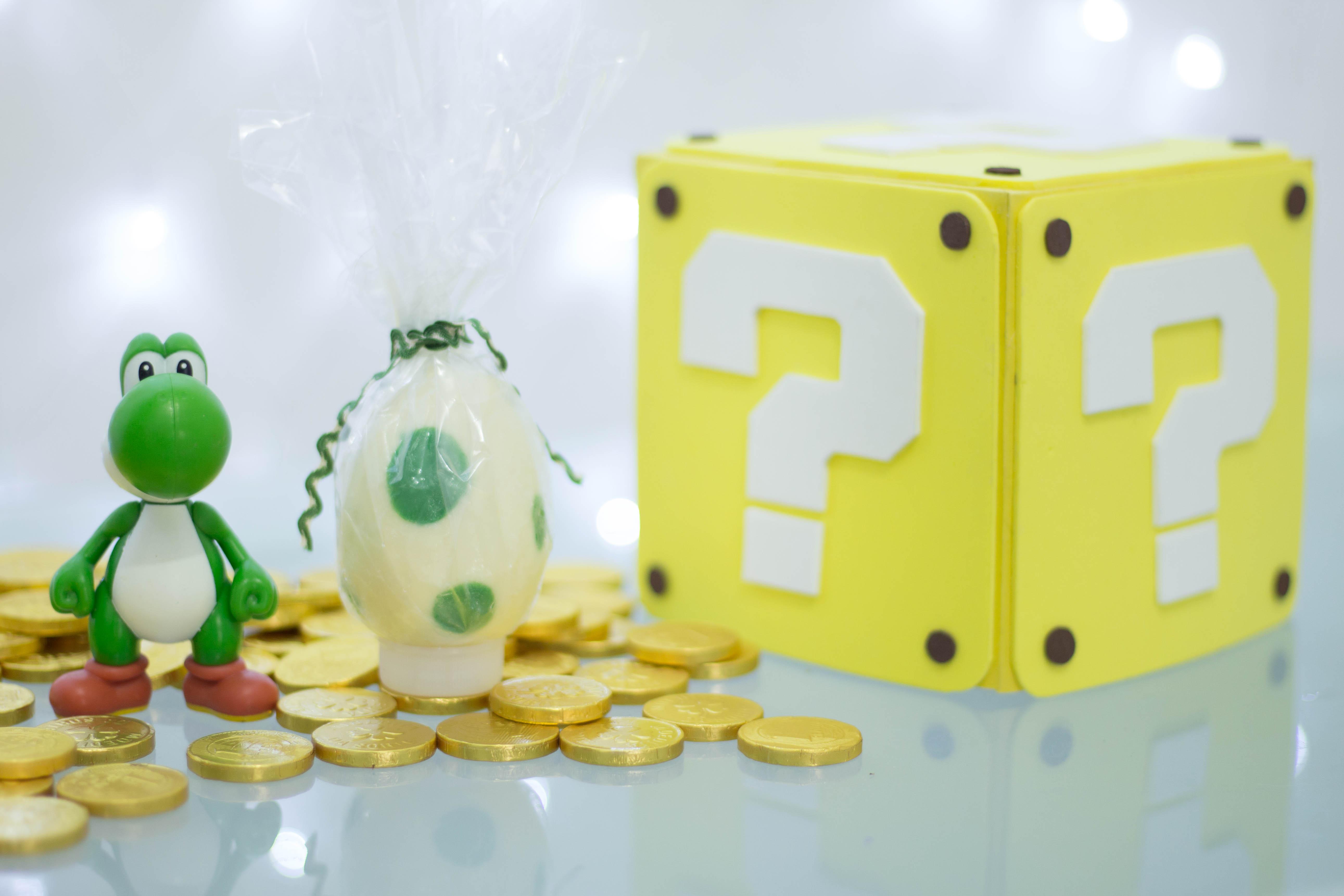 caixa surpresa e ovo do yoshi
